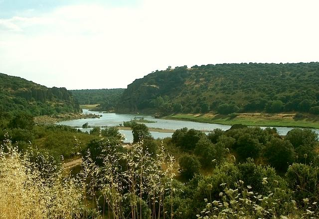 El río Esla tras Granja de Moreruela