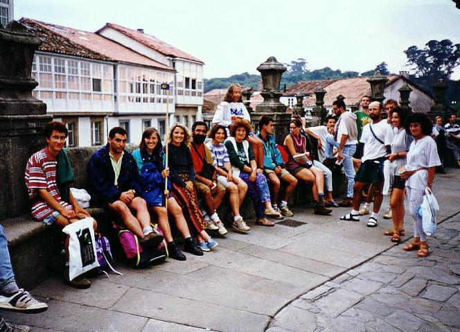 Camino Franc�s, Plaza del Obradoiro, 29-8-1994